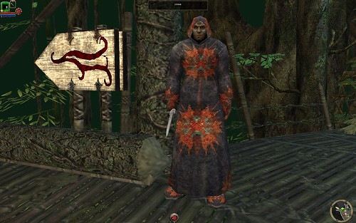 Lothar in Eirulan (modded to start as combat mage)