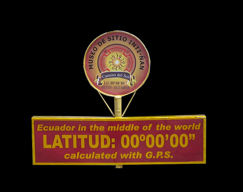 Latitude 00 00 00 sign Quito copy