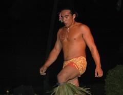 Getting Ready to Play With Fire (Caretta (JWarner)) Tags: man tattoo hawaii dance dancers hula luau hawaiian hi bigisland hawaiiantattoo waikaloa maledancer hawaiianculture polynesianculture hawaiianman waikoloabeachmarriottresortspa hawaiiandancer