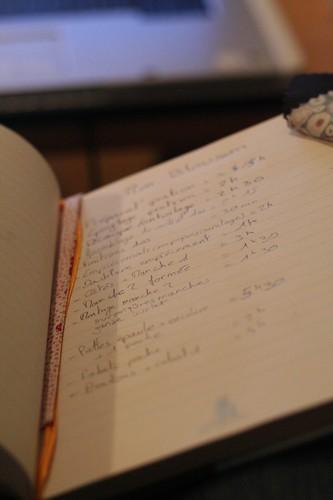 Cahier de compte du temps