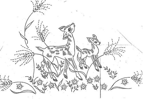 Wonderlandshoppe Deer Pillowcase Embroidery Pattern