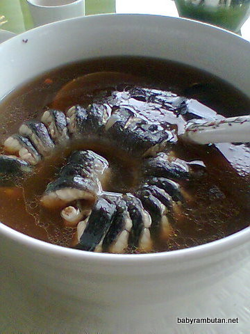 eel in ginger and wine broth