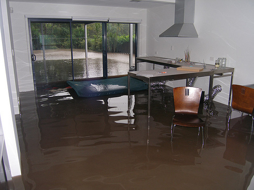 Flood waters inside my home
