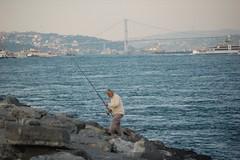 Fishing At Dusk: Istanbul