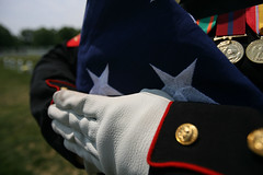 In Honor of Memorial Day 2009, A Funeral Flag, A flag prepared for presentation to the next of kin ... Lion of Fallujah is laid to rest