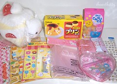 swap for poptartxo (iheartkitty) Tags: candy hellokitty stickers plush sanrio swap kawaii sanx nyanko