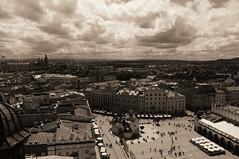 (mattrulez) Tags: city sky urban panorama sun sunlight white black tower clouds nikon downtown raw view krakoff mywinners