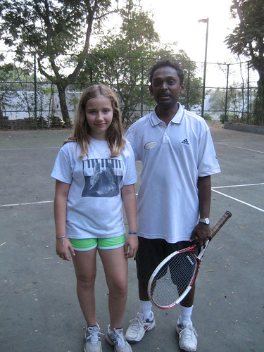 Last tennis lesson with Coach Siva.