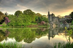 Shakespeare Castle (Brad-Miller) Tags: sunset newyork centralpark turtlepond fabbow