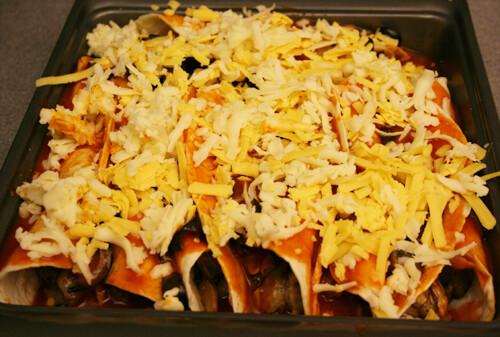 Eggplanet-Almond Enchiladas