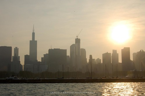 Sun Over The Chicago Skyline