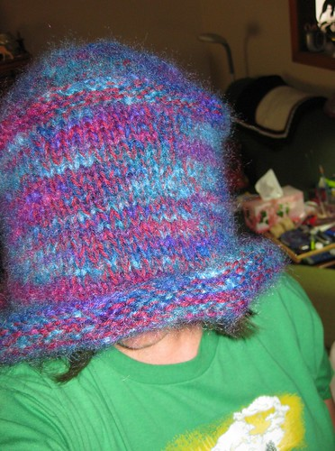 Maxine Hat before fulling