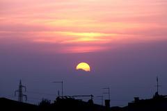 a volte basta guardar fuori dalla finestra... (Blue Spirit - heart took control) Tags: sunset home window clouds casa tramonto nuvole tetti finestra antenne skypaints nearpadova