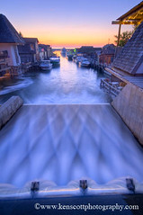 Fishtown ... sunset II (Ken Scott) Tags: sunset usa leland boats twilight dam michigan lakemichigan greatlakes solstice hdr magichour fishtown leelanau