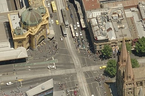 Flinders Street from above