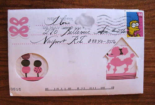 Pop-up poodle envelope