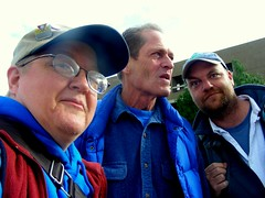 With Phil Munger & Janson Jones outside an Assembly hearing this summer, the first time I met either in person.