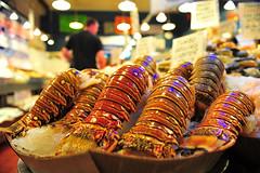 Huge lobster Tail (yiimage) Tags: seattle publicmarket lobstertail