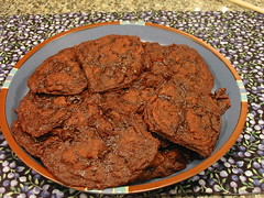 chocolate lingonberry jam cookies