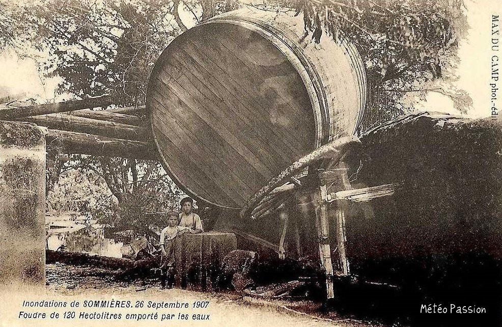 foudre emporté par la crue de la Vidourle le 26 septembre 1907