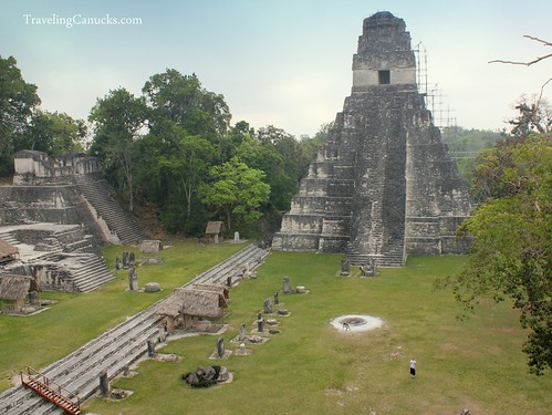 Can you spot Nicole in the Gran Plaza, Tikal National Park