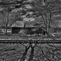 Abandoned train station (louieliuva) Tags: blackwhitephotos