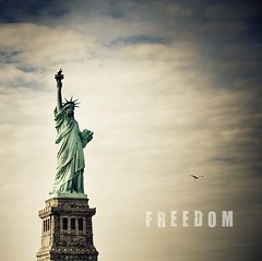 . (Violet Kashi) Tags: sky sculpture newyork monument statue clouds freedom harbor democracy seagull statueofliberty colossal neoclassical libertyisland ladyliberty libertyenlighteningtheworld lalibertééclairantlemonde lightroom3