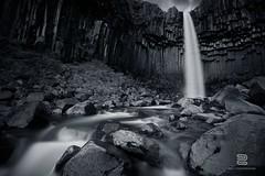 Black Waterfall (S.D.G Photographie) Tags: blackandwhite bw dark waterfall iceland falls sombre cascade islande svartifoss chutte