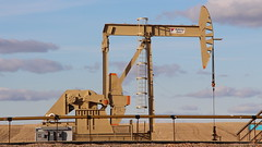 close up of oil site near Tioga, ND