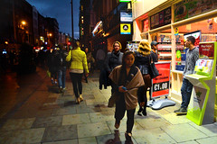 Westmorland Street, Dublin (Owen J Fitzpatrick) Tags: life lighting street ireland light people dublin retail night photography j evening darkness pavement candid streetlife joe eire pedestrians owen dslr unposed newsagent chasing fitzpatrick ojf westmorlandstreet owenfitzpatrick owenfitzpatricknikond3100 ojfitzpatrick