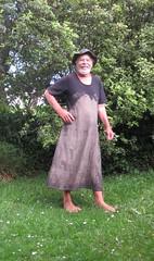 Mud dress dry. (Jack Williams) Tags: newzealand men fun freestyle frolic dress mud auckland meninfrocks frocks menindresses mandress