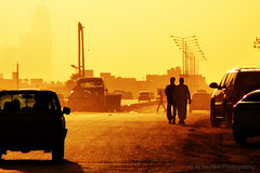 Stroll at Dusk (uvaisjm - Al Seylani Photography) Tags: street sunset evening shot dusk eveningsky warmtones