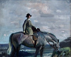 In Cornwall (Portrait of the Artist's Wife) c1920, Sir Alfred Munnings (bodythongs) Tags: sea portrait england sky horse woman cloud art english hat museum james nikon cornwall artist gallery rebecca violet du dessin moderne peinture painter wife british alfred westmidlands grazing mcbride maurier bimingham galrie munnings d5100 bodythongs