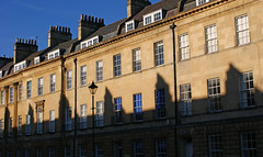 Bath   97 (NickWoods) Tags: street uk england bath shadows somerset avon chimneys georgianarchitecture greatpulteneystreet shadowchimneys