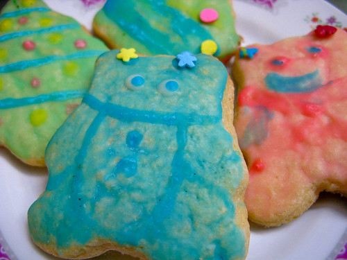 christmas, sugar, cookies, painted, icing, recipe