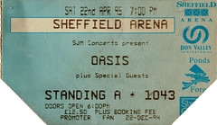 Oasis, Sheffield Arena (Andy Hay) Tags: music tickets oasis scanned gigs pulp 1995 sheffieldarena