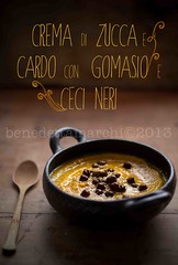 pumpkin and thistle soup (benedettamarchi) Tags: food pumpkin recipe soup fotografia cucina zucca ricetta foodphotography foodstyling fashionflavors