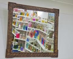 _MG_0388 (Mary Susan Smith) Tags: africa travel vacation reflection tourism mirror store holidays tour bottles morocco superhero marrakesh apothecary shelves thechallengefactory tcfwinner herowinner pregamewinner
