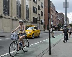 Bleeker Street - D7K 7069 ep (Eric.Parker) Tags: nyc newyork bike bicycle cyclist cleavage bigapple bleeker 2013