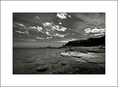Hartley Bay I (Jeff Teasdale) Tags: uk sea england sky monochrome clouds coast northumberland hartleybay vision:text=0681 vision:outdoor=0908 vision:sky=0852 vision:clouds=0879 vision:ocean=0605