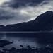 Aurland Fjord Monochrom