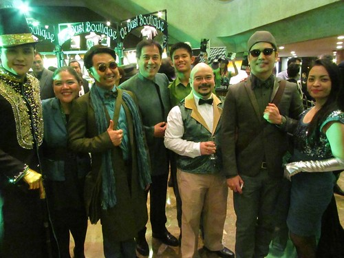 thespians in their Emerald City inspired costumes