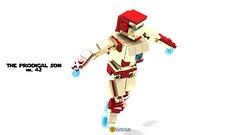 Ironman MK 42 Miniland (clmntin.E) Tags: mecha lego digital designer ldd povray portraits universe marvel red bull felix iron man suits exo exosuits hardsuits hard comic dc avengers