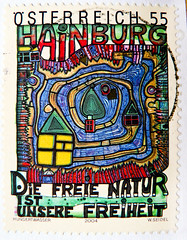 "great stamp Austria 55c (Dec. 8th 1984 - 30th anniversary of peaceful occupation of the Hainburger Au wetland) painting by Friedensreich Hundertwasser Hainburg ""The Great Outdoors Is Our Freedom"" poste-timbres Autriche sellos Austria selos 55c (thx for sending stamps :) stampolina) Tags: art 2004 nature postes painting freedom austria oostenrijk sterreich colorful artist arte stamps kunst cent natur free porto colourful 55 postage postzegel franco autriche hundertwasser  freiheit knstler sellos  briefmarken markas greatoutdoors pulu selos timbres hainburg francobolli zegels timbresposte znaczki frimerker frimaerke sellodecorreo pullar timbru  postapulu postestimbres postetimbres selodecorreio antspaudai znamk"
