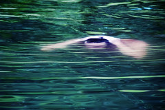 Emerging (tigrić) Tags: brazil lake man green water brasil pond underwater bahia