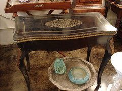 "FRENCH EBONIZED BOULLE GAMES TABLE. • <a style=""font-size:0.8em;"" href=""http://www.flickr.com/photos/51721355@N02/13156412683/"" target=""_blank"">View on Flickr</a>"