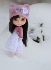 Nina in the snow
