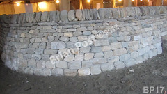 WM Brian Post 17, freestanding wall, cheekend, vertical cope, dry laid stone construction, copyright 2014