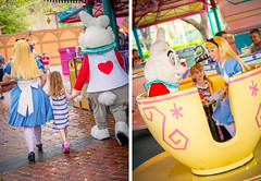 Teacups Ride w/ Alice & the White Rabbit (crashmattb) Tags: daughter abs kid magickingdom characters disney magickingdom®park lightroom 2014 march diptych aliceinwonderland whiterabbit alice madhatterteaparty teacups ride madteaparty canoneosdigitalrebelt3i canonef50mmf18ii wdw abigailjaclyn lakebuenavista waltdisneyworld disneythemepark travelphotography orlando florida