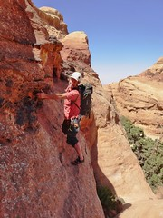 Traversing to the Domes, Sheik Hamadan's Route, Jebel Rum (andywalker1) Tags: wadirum jordan rum andrewwalker andywalker jebelrum sheikhamadan